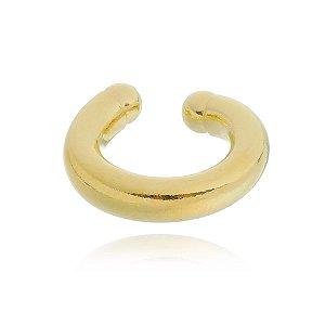 Piercing Fake Tubular Folheado em Ouro 18k