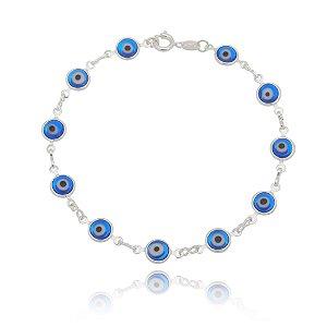 Pulseira de Olho Grego Prata 925