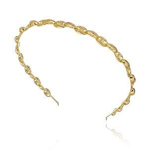 Tiara de Metal Dourada Lacre