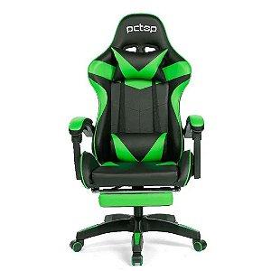 Cadeira Gamer PCTop Racer 1006 Ergonômica - Preta e Verde