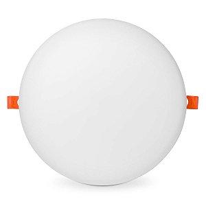 Plafon Led Redondo 18w Embutir 12x12 Branco Frio - Borda Infinita