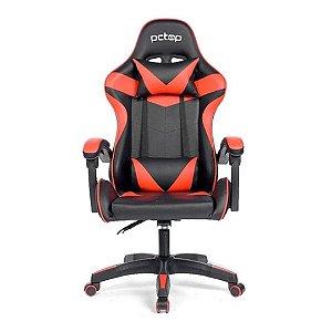 Cadeira Gamer Ergonômica Strike 1005 Pc Top - Preta e Vermelha