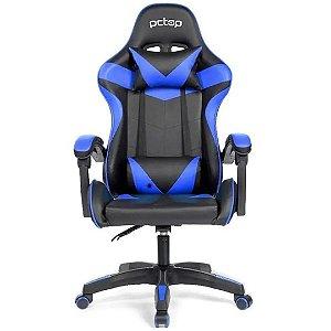 Cadeira Gamer Ergonômica Strike 1005 Pc Top - Preta e Azul