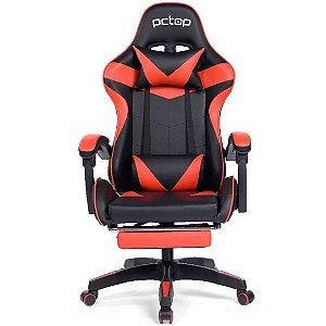 Cadeira Gamer PCTop Racer 1006 Ergonômica Preta e Vermelha