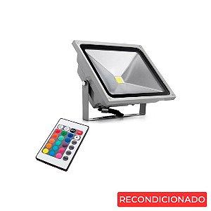 Refletor LED 10w Slim - RGB