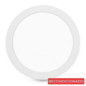 Painel Plafon Led Redondo Embutir 24W - Branco Frio - 30cm