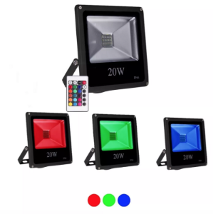 Refletor Led Rgb 20w Slim