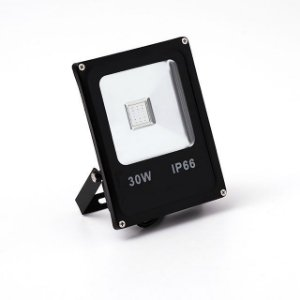 Kit 5 Refletor Led 30w Rgb - Slim