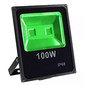 Refletor Led Verde 100w Slim
