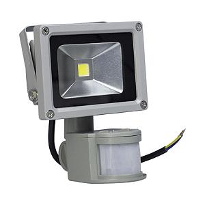 Refletor Led 10w Com Sensor de Presença - Branco Frio