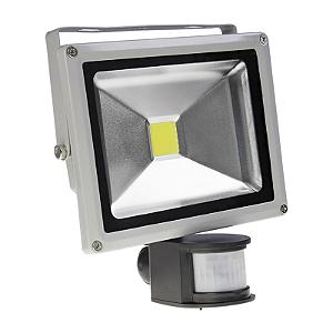 Refletor Led 20w Com Sensor de Presença - Branco Frio