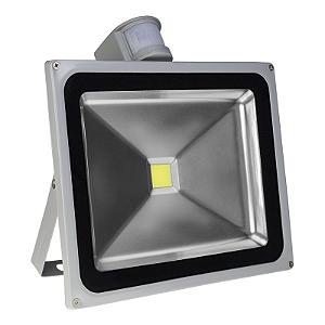 Refletor Led Branco Frio 50w com Sensor de Presença