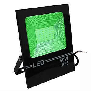 Refletor Led 50W Slim SMD - Verde