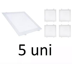 Kit 5 Painel Plafon Led Branco Frio 18w Quadrado Embutir