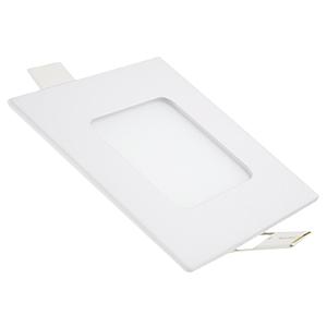 Kit 5 Painel Plafon Led Branco Quente 3w Quadrado Embutir