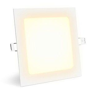 Painel Plafon Led 12w Quadrado - Branco Quente Embutir