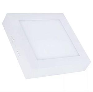Kit 10 Painel Plafon Led 12w Quadrado Sobrepor - Branco Quente
