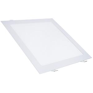 Kit 5 Painel Plafon Led 25w Quadrado Embutir - Branco Quente