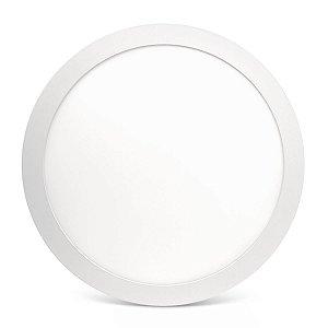 Painel Plafon Led Branco Quente 25w Redondo Embutir