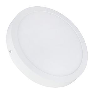 Kit 10 Painel Plafon LED 25w Redondo Sobrepor - Branco Quente