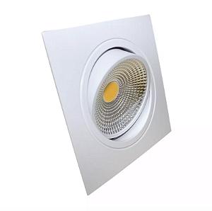 Spot LED 7W COB Quadrado - Branco Frio