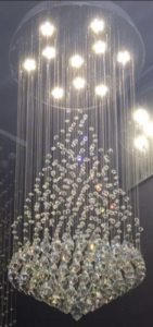 Lustre Luminária Led de Cristal Médio Bivolt