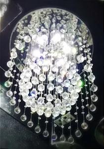 Lustre Luminária Led de Cristal Redondo para Sala de Jantar