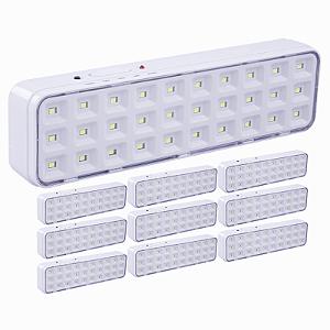 Kit 10 Luminárias de Emergência 30 LEDs Bivolt