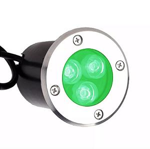 Kit 2 Balizador de Chão Led 3W Verde