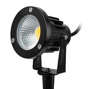Kit 5 Espeto de Jardim Refletor LED Branco Frio 5w Bivolt