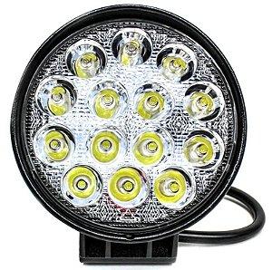 Farol de Milha LED Redondo Universal 48w 12v