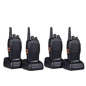 Kit 4 Rádio Comunicador Profissional 16 canais 4km 777s