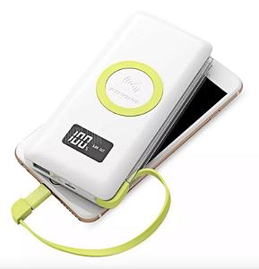 Carregador Portátil Pineng Qi 10.000mah Usb 3.0 Wireless - PN888
