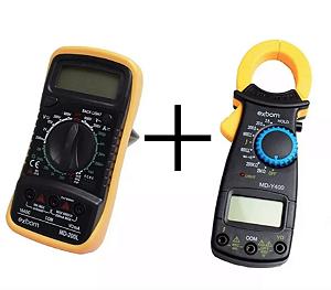 Multímetro Digital Profissional + Alicate Amperímetro 600v