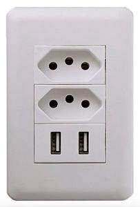 Kit 2 Tomada USB de Parede