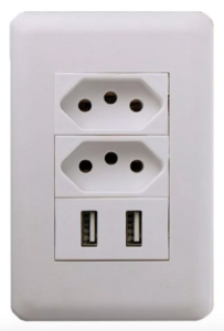 Kit 5 Tomada USB de Parede