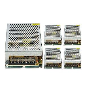 Kit 5 Fonte Chaveada 12v 15a Colmeia 180w para CFTV LED Som Automotivo