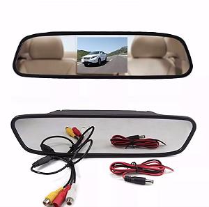 Retrovisor Com Visor Espelho Tela LCD 43 polegadas