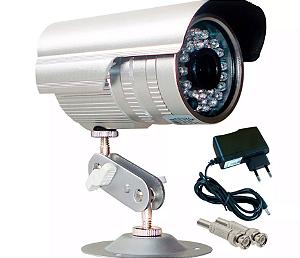 Câmera de Segurança CCD Infra 36 Leds - Prata