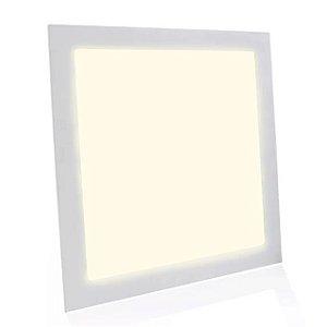 Kit 5 Painel Plafon LED Embutir Quadrado 40x40cm 36w Branco Quente