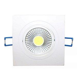 Kit 10 Spot LED Embutir 5w Direcionável Quadrado Branco Frio