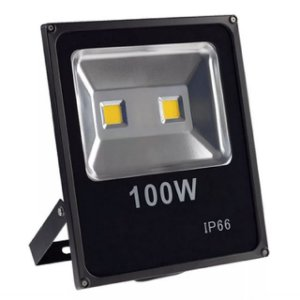Kit 3 Refletor LED Holofote 100w Slim Branco Frio IP65