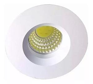 Kit 5 Mini Spot LED 3w Redondo COB - Branco Frio