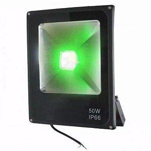 Kit 2 Refletor de Led 50w - Holofote Slim - Verde