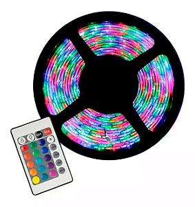 Fita de Led RGB com Controle 5 metros 3528