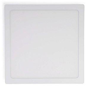 Painel Plafon LED 36w Sobrepor Quadrado - Branco Quente