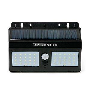 Kit 3 Luminária de LED Arandela Solar Dupla Externa Sensor de Presença