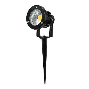 Kit 2 Espeto de Jardim Refletor LED Branco Frio 5w Bivolt