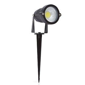 Kit 2 Espeto de Jardim Refletor LED Branco Quente 5w Bivolt