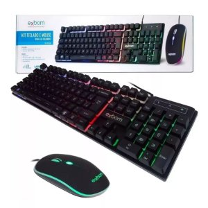 Kit teclado gamer e mouse gamer LED RGB - BK-G550